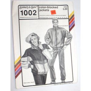 UNCUT Stretch & Sew 1002 sewing pattern jackets
